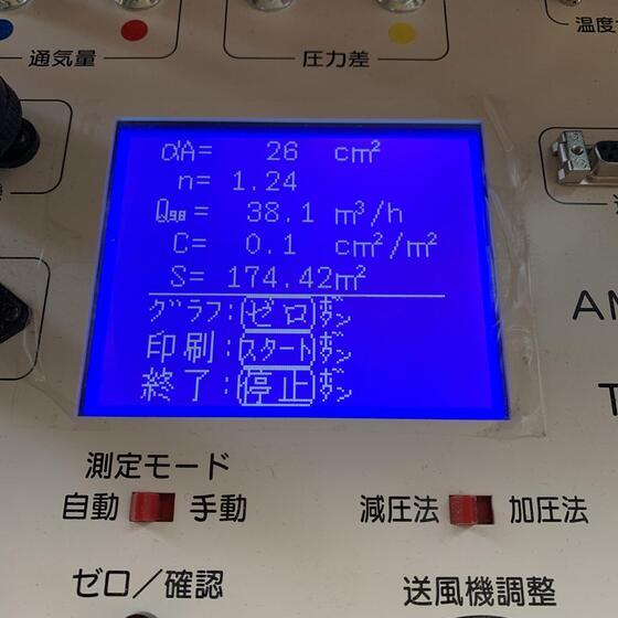 【葛城市】気密測定を実施しました